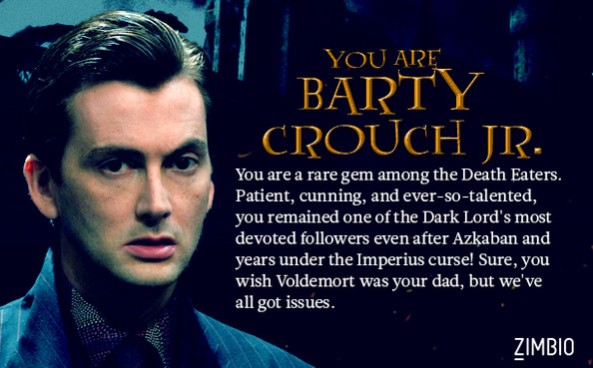 Barty Crouch Jr quiz result