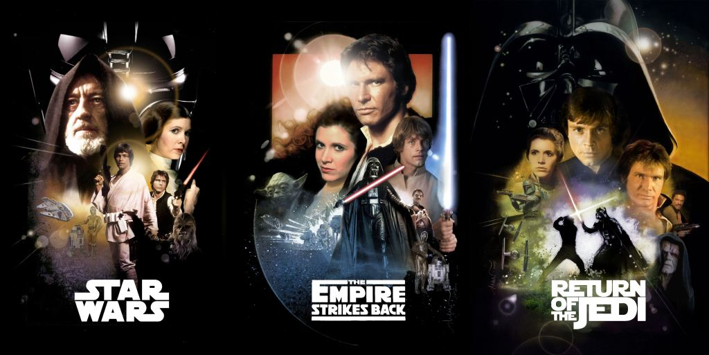 Star Wars Original Trilogy DVD covers